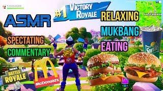 ASMR Gaming 🍔 Fortnite Mukbang Eating McDonald's Big Mac Burgers Commentary 먹방 🎮🎧 Relaxing 😴💤