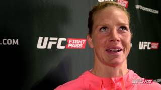 UFC 184: Holly Holm Backstage Interview
