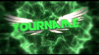 Free 3D Intro #41 | Green Colorful Synced Wings Intro Template