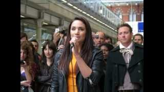 "Les Misérables Flash Mob with Laura Wright 2013 ""Do You Hear The People Sing"""