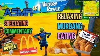 ASMR Gaming 🍗 Fortnite Mukbang Eating McDonald's Chicken Nuggets Commentary 먹방 🎮🎧 Relaxing 😴💤