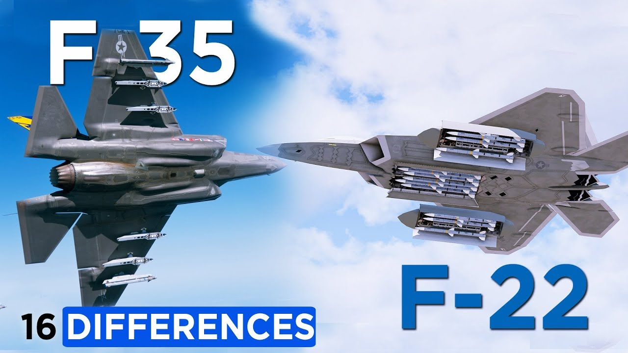 Here's 16 Differences Between : F-22 Raptor with F-35 Lightning II