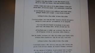 la lettre d'un soldat (chanson d' Emmanuel Férel )