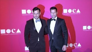 Ricky Martin and Jwan Josef 2017 MOCA Gala Purple Carpet