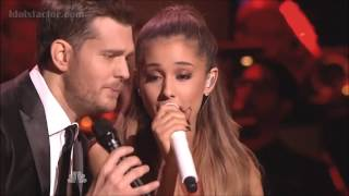 "Michael Buble & Ariana Grande ""Santa Claus Is Coming To Town"""