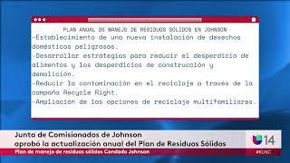 Junta de Comisionados de Johnson aprobó la actualización anual del Plan de Residuos Sólidos
