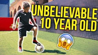 UNBELIEVABLE 10 YEAR OLD FOOTBALLER 😱