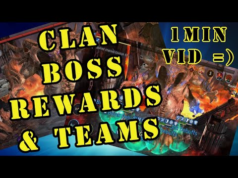 [RAID SHADOW LEGENDS] CLAN BOSS REWARDS & TEAM