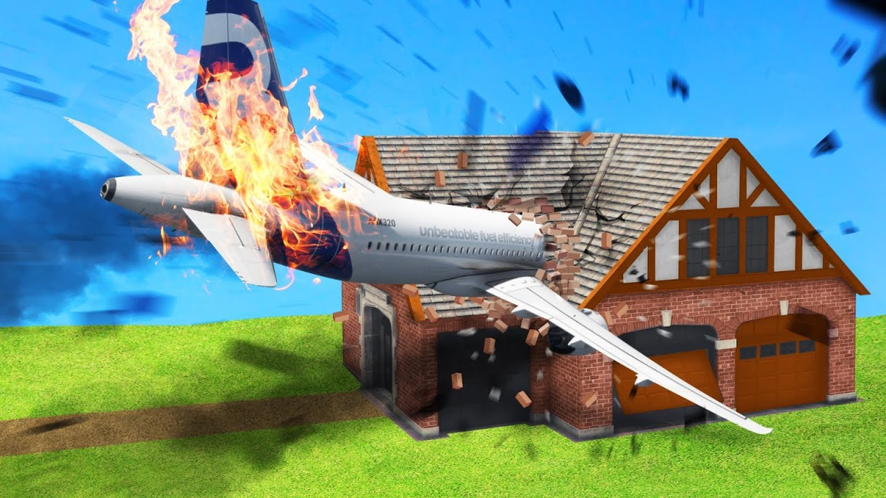 Jelly - I CRASHED Into My FRIENDS HOUSE In FLIGHT SIMULATOR 2020! (TROLL)