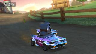 Wii U - Mario Kart 8 - (Wii) Moo Moo Meadows feat: COOLJAMESIV funniest race ever