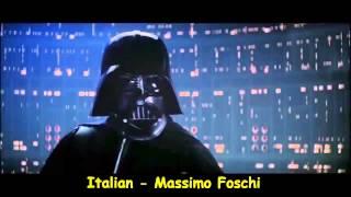 """Darth vader em """"Eu sou seu pai"""" em 20 diferentes línguas"""