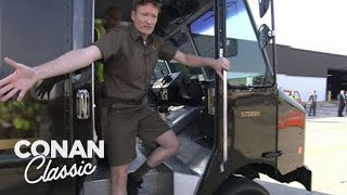 Conan Becomes A UPS Deliveryman -  Late Night With Conan O'Brien