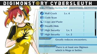 Digimon Story: Cyber Sleuth - Hacking Skills Usage Conditions (Stealth Hide, Copy And Paste)