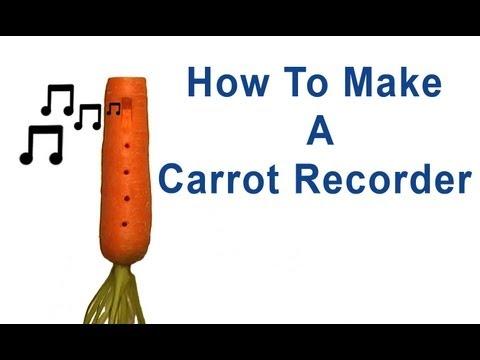 Fabriquer une flûte avec une carotte