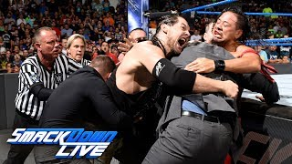 Shinsuke Nakamura ignites a pre-match brawl with Baron Corbin: SmackDown LIVE, July 11, 2017