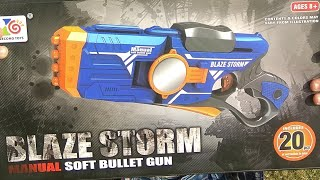 Nerf Soft Bullet Guns - Blaze Storm - Automatic transmission - Super Power Bullet Gun For Kids