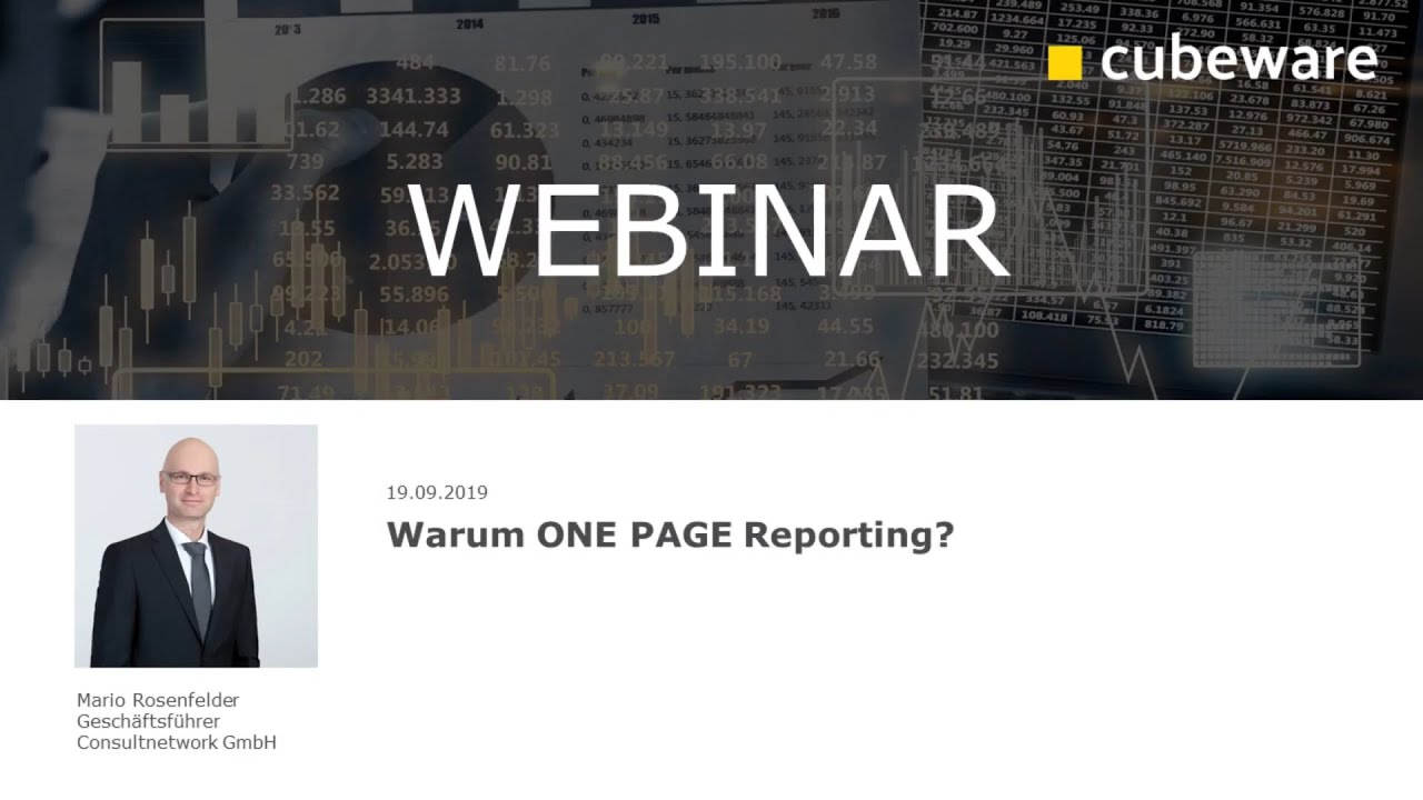 Warum ONE PAGE Reporting?