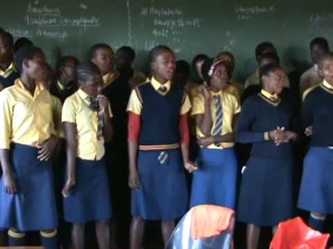 South African Drifters sponsored school Amazing Singers