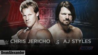 WWE WrestleMania 32 - AJ Styles vs Chris Jericho Highlights HD