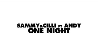 Sammy&Cilli Ft Andy - One Night (Lyrics Video)