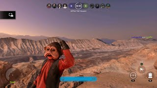 Star Wars Battlefront New Hero Nien Nunb Gameplay | Outer Rim DLC PS4 1080p