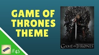 Lesson 45 HARMONICA C - Game of Thrones Theme - Easy Tabs