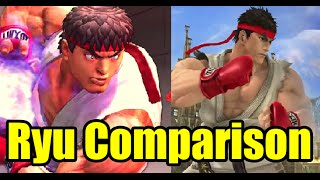 Ryu's Street Fighter VS Super Smash Bros Wii U Comparison (Small Evolution)