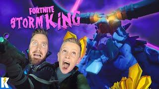 We Battled the FORTNITE Storm King! (Fortnitemares Challenge) KIDCITY GAMING