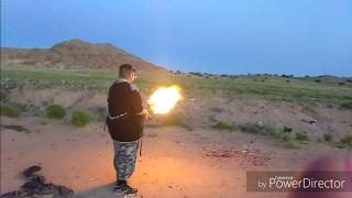 AK47 BREAKS DRUM BUMP FIRING!!! MUST SEE!!!(75 Round Drum Fail AK 47)