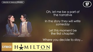#17 Hamilton - That Would Be Enough (VIDEO LYRICS)