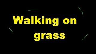 Walking on grass   sound effect