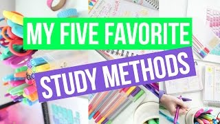 MY FIVE FAVORITE STUDY METHODS ♡