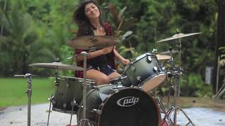 Nirvana - Breed - Drum Cover | By Paulina Vera