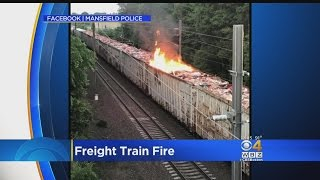 Freight Train Fire In Mansfield Causes Commuter Rail Delays