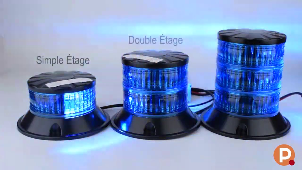 Gyrophare LED Double étage 110mm