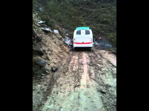 Nepal edge cliff langtang