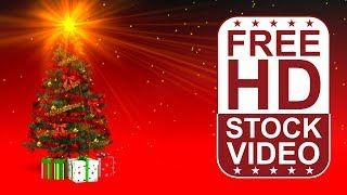 FREE HD video backgrounds – celebrations – christmas tree with presents – seamless loop animation