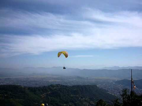 Paragliding over Pokhara