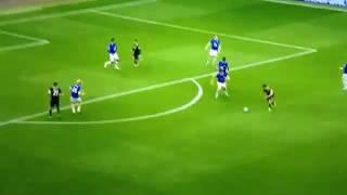 Everton vs Chelsea 0-1 Goal Pedro