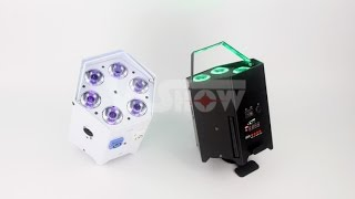 Battery Operated Wireless DMX & IR Remote LED Uplighting 6*18W RGBAW+UV 6in1 Color