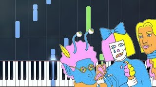 """LSD - """"Thunderclouds"""" Piano Tutorial - Chords - How To Play - Cover"""