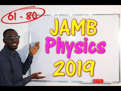 JAMB CBT Physics 2019 Past Questions 61 - 80