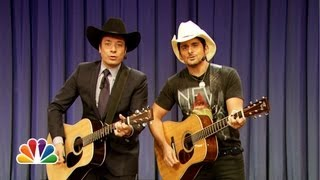 """Jimmy Fallon & Brad Paisley Sing """"Balls In Your Mouth"""" (Late Night with Jimmy Fallon)"""