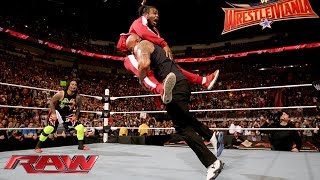The Rock and The Usos lay the smackdown on The New Day: Raw, Jan. 25, 2016 width=