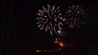 FIREWORKS IN LEIRIA(PORTUGAL) HAPPY NEW 2017 YEAR!!!!