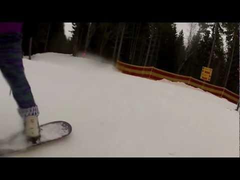 Gopro snowboard in Bukovel Karpats Ukraine 2012