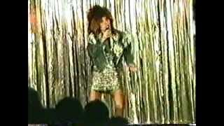 Tina Turner Spoof - ageing singer with  ridiculous footwear