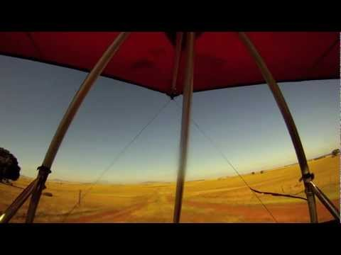 Ultralight wing (draadkar) flying in South Africa