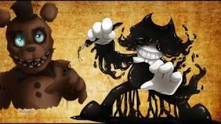 Freddy VS Bendy rap battle- nightcore