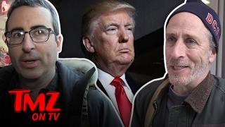 John Oliver and Jon Stewart Out In NYC! | TMZ TV